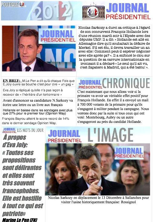 JOURNAL PRÉSIDENTIEL N°18