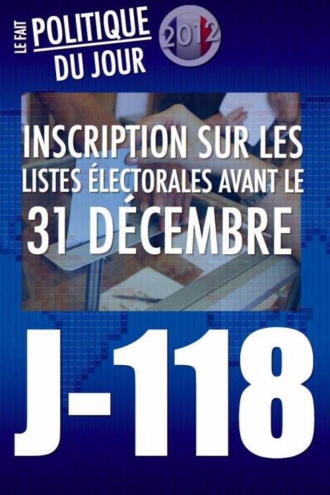 LE FAIT POLITIQUE DU JOUR: J-5 pour s'inscrire sur les listes électorales