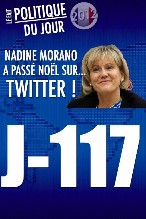LE FAIT POLITIQUE DU JOUR: Nadine Morano a passé Noël sur ... Twitter !