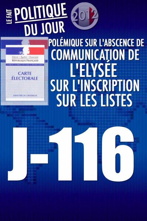 LE FAIT POLITIQUE DU JOUR: Polémique sur l'absence de communication de l'Elysée sur l'inscription sur les listes électorales