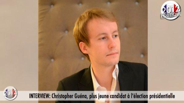 INTERVIEW: Christopher Guéna, plus jeune candidat à l'élection présidentielle