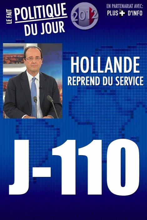 LE FAIT POLITIQUE DU JOUR: Hollande reprend du service avec une lettre et un journal télé