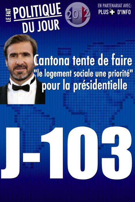 LE FAIT POLITIQUE DU JOUR: Eric Cantona veut que la question du logement social soit au coeur de la présidentielle