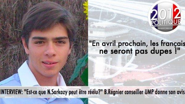 """INTERVIEW: """"Est-ce que N.Sarkozy peut être réélu?"""" B.Régnier conseiller UMP donne son avis"""