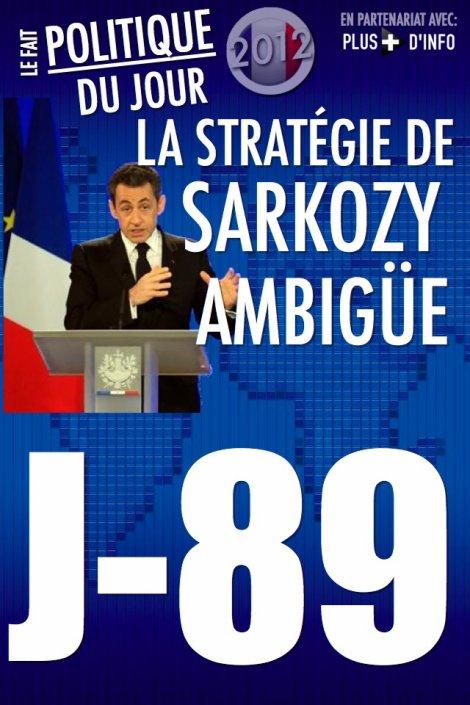 LE FAIT POLITIQUE DU JOUR: La stratégie de Sarkozy ambigüe