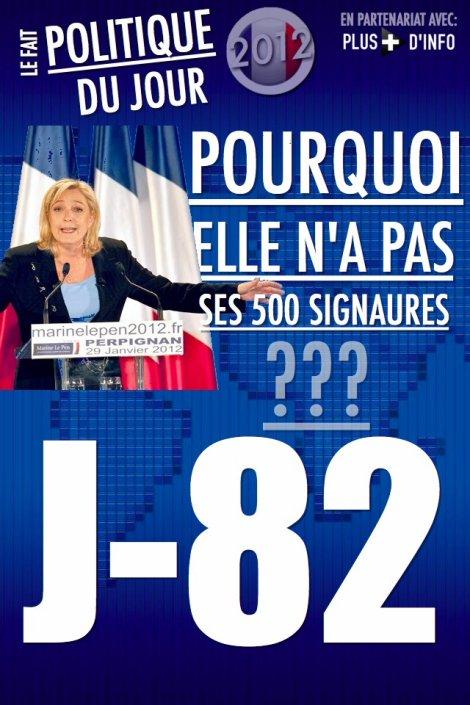 LE FAIT POLITIQUE DU JOUR: Pourquoi Marine Le Pen n'a pas ses 500 signatures