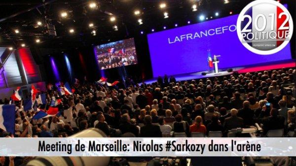 Meeting de Marseille: Nicolas Sarkozy dans l'arène