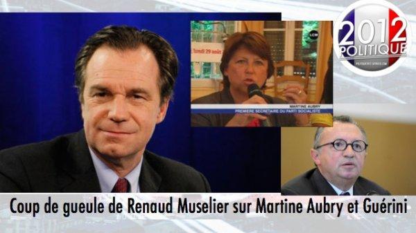 Coup de gueule de Renaud Muselier sur Martine Aubry et Guérini