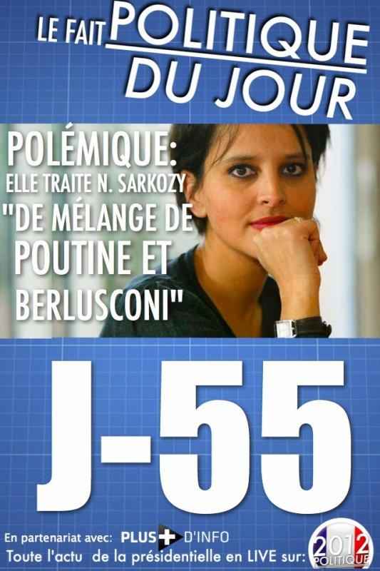LE FAIT POLITIQUE: Najat Vallaud-Belkacem créer la polémique en désignant Sarkozy comme étant un mélange de Poutine et Berlusconi