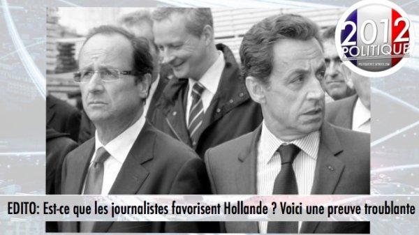 EDITO: Est-ce que les journalistes favorisent Hollande ? Voici une preuve troublante