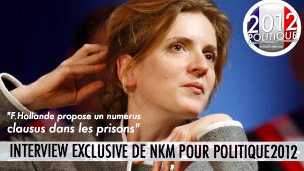 INTERVIEW EXCLUSIVE DE Nathalie Kosciusko-Morizet où elle parle de délinquance, prisons, éducation et TVA