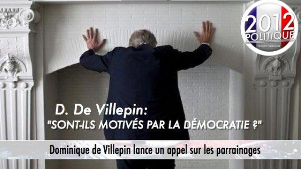 Dominique de Villepin lance un appel sur les parrainages