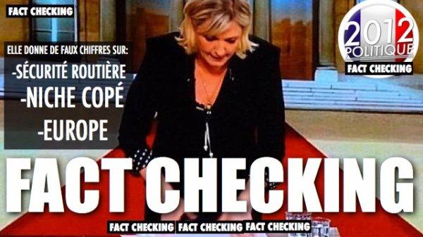 FACT CHECKING: Marine Le Pen donne des pleins de chiffres faux sur la fiscalité, l'Europe et la sécurité routière