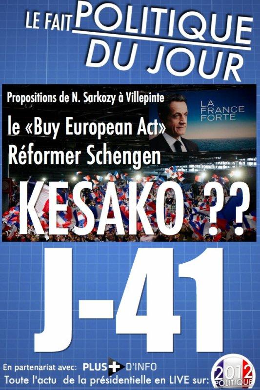 """LE FAIT POLITIQUE: ZOOM sur la réforme de l'espace Schengen et le """"buy european act"""" que veut mettre en place Sarkozy"""