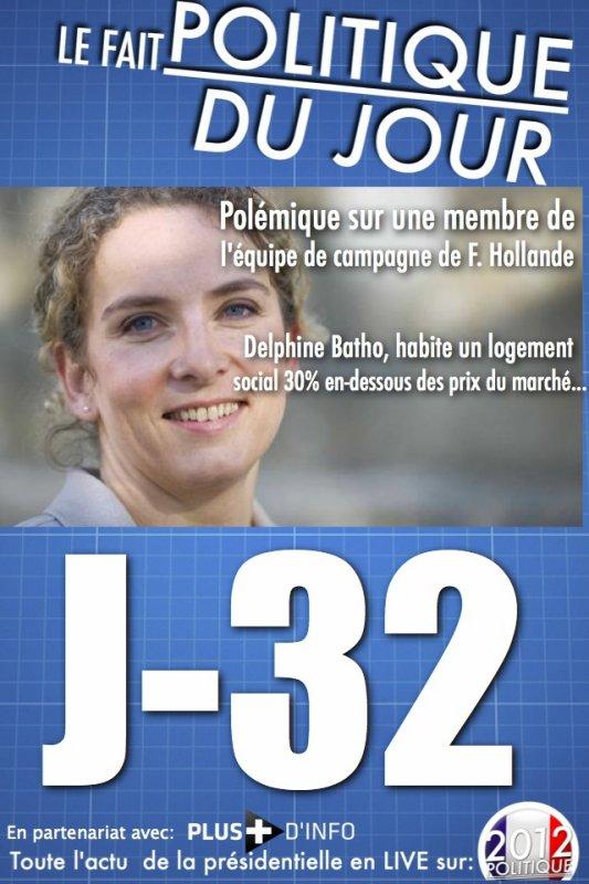 LE FAIT POLITIQUE DU JOUR: Polémique, Une membre de l'équipe de F. Hollande loge dans un logement social à Paris