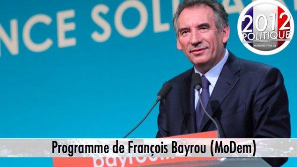 Programme de François Bayrou (1/2)