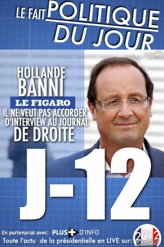 LE FAIT POLITIQUE DU JOUR Hollande refuse d'accorder une interview au «Figaro»