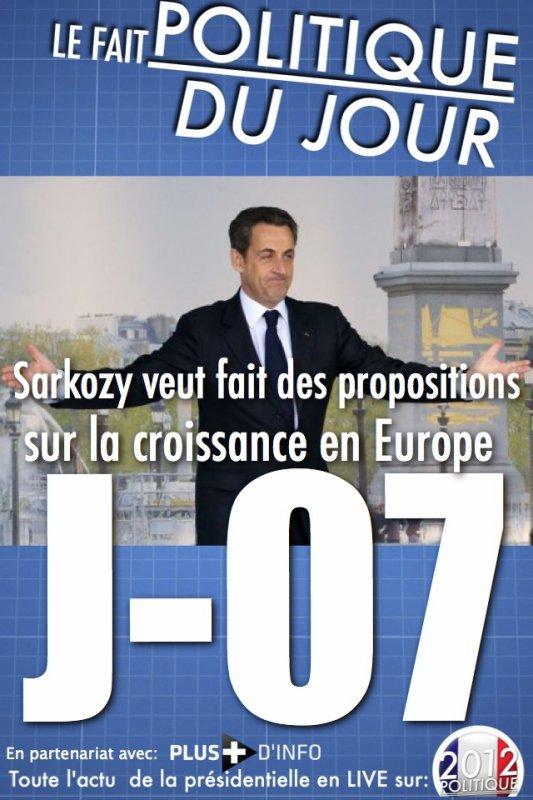 LE FAIT POLITIQUE DU JOUR: A la Concorde, Sarkozy parle d'un nouveau thème: la croissance en Europe