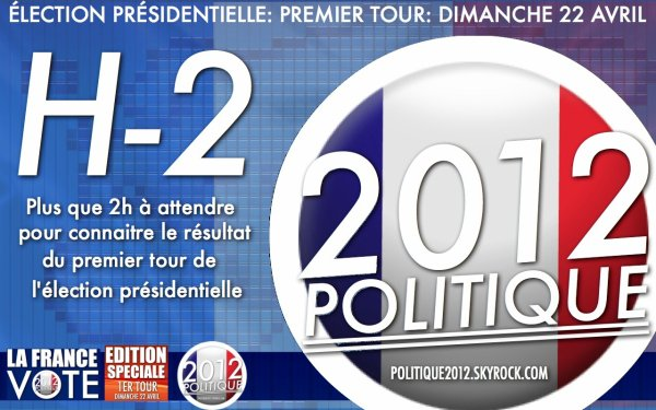 LIVE: Suivez minute par minute la journée du premier tour de la présidentielle