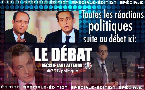 TOUTES LES RÉACTIONS POLITIQUE SUITE AU DÉBAT ICI: