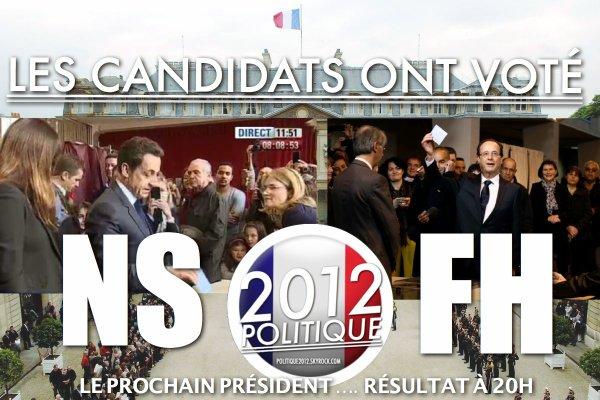 VIDEO: NICOLAS SARKOZY ET FRANÇOIS HOLLANDE ONT VOTÉ !