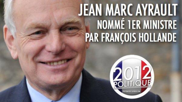 OFFICIEL: Jean-Marc #Ayrault premier ministre