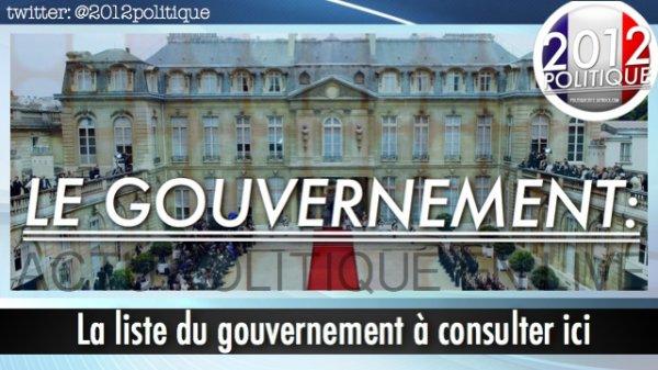 La liste du gouvernement à consulter ici: