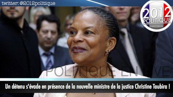 Un détenu s'évade en présence de la nouvelle ministre de la justice Christine Taubira !
