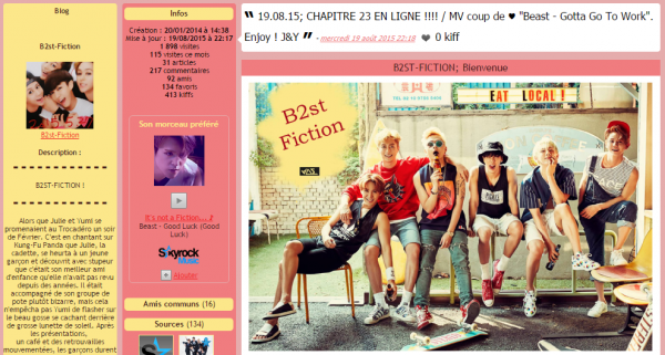 PUB; B2st-Fiction, ma fiction sur B2ST !
