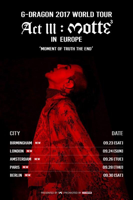 G-DRAGON 2017 WORLD TOUR < ACT III, M.O.T.T.E >