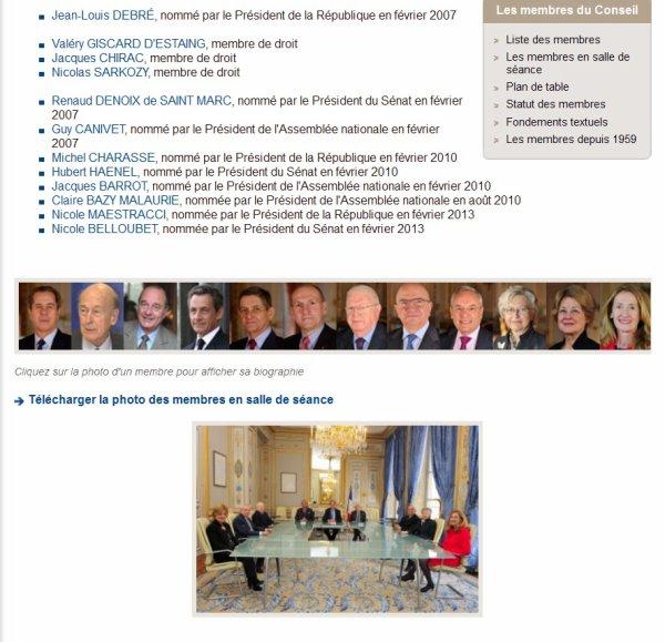 !!!   LE CONSEIL CONSTITUTIONNEL   !!!