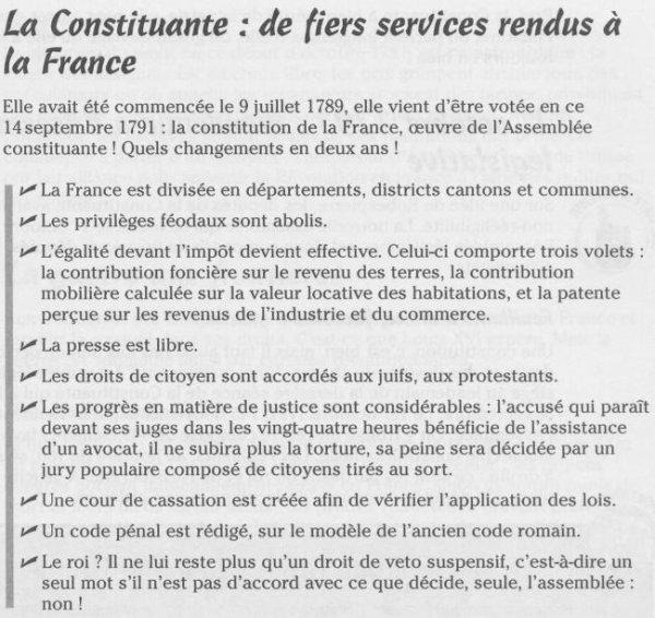 §§§  Les branches et la constitution  §§§