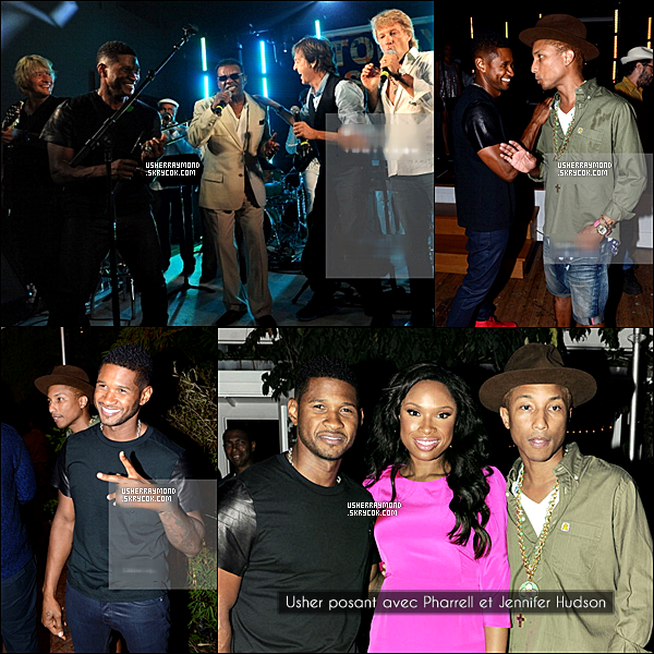".10.08.2012 : Usher R. a performé a la 3ème édition de ""Apollo In The Hamptons"". ."
