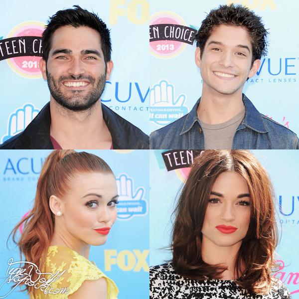 Le 11.08.13 Tyler Posey, Tyler Hoechlin, Crystal Reed, Holland Roden et Dylan O'brien étaient présents à la cérémonie des Teen Choice Awards 2013 ! La série n'a malheureusement pas remporté les prix dans les catégories dans lesquelles elle était nominée.