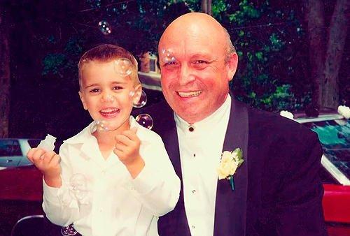justin et son grand père