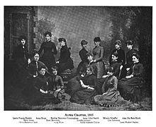 Alpha chapitre à l'Université de Depauw, 1885