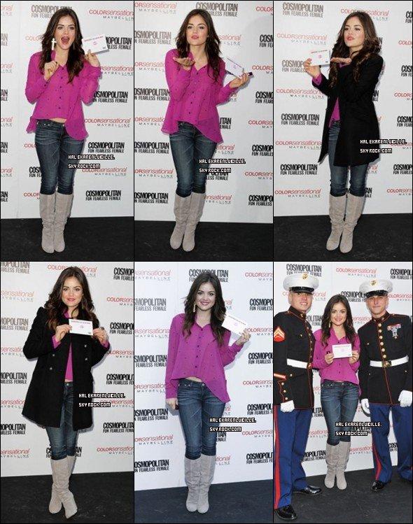 .  11/11/11  - Lucy présente au 3 eme baisers Annuel pour les troupes !  .