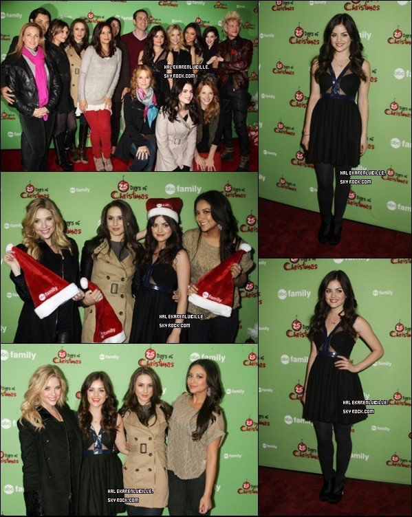 ".   23/11/11 - Lucy présente avec le cast de  "" Pretty Little Liars ""   a  ABC   Family   ."