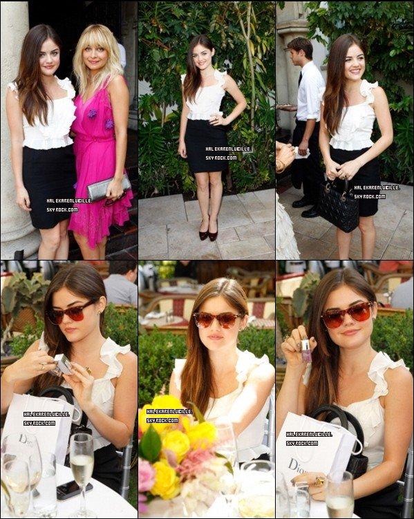 """.  ??/??/11  - Lucy est allée au  """" Dior Garden Party """"  On peut la voir au côté de  Nicole Ritchie  [/align ] ."""