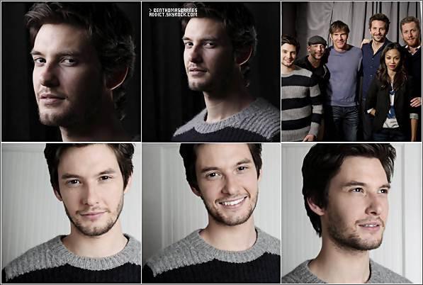 26 Janvier 2o12 : Ben est actuellement au Festival du Film de Sundance pour promouvoir son prochain film, Les Mots. Il a rejoint le reste de la distribution pour leur séance de portrait Sundance plus tôt aujourd'hui.