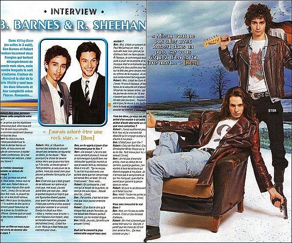 Ben Barnes & Robert Sheehan ont été interviwés par le magazine ONE !