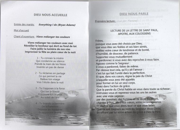 aide la mise en page de votre livret de messe - Exemple De Livret De Messe Mariage