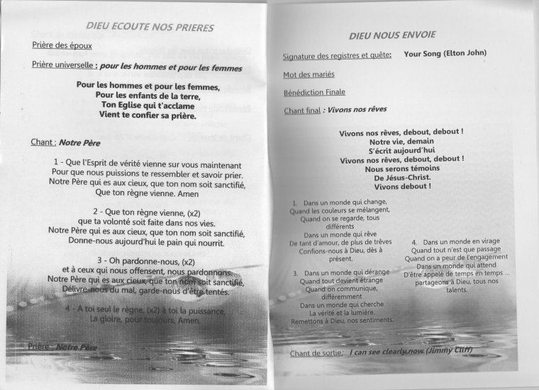 aide la mise en page de votre livret de messe - Exemple Livret De Messe Mariage