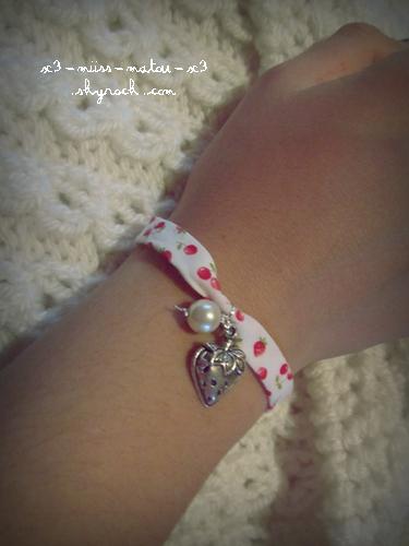 Bracelet liberty fraise