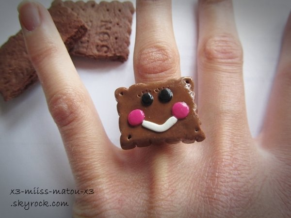 Bague biscuit kawaii