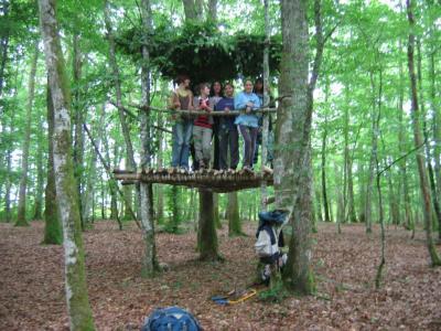 un defi construire une cabane dans les arbres les grelodots bafa 1 juin 2007. Black Bedroom Furniture Sets. Home Design Ideas
