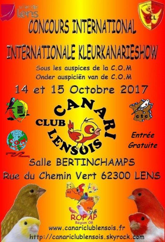 Affiche du concours de mon club