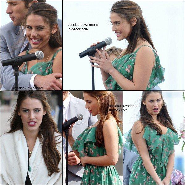 . 15/02/2012 Jessica sur le set de la saison 4 de 90210. .