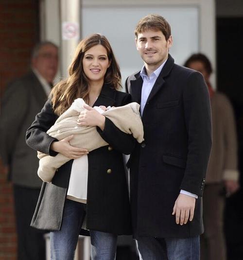 Sara Carbonero, Iker Casillas et leur fils Martin