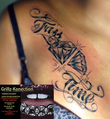 Grillzkonection / Tatoo / Prise de rdv 06.66.97.28.53 par sms